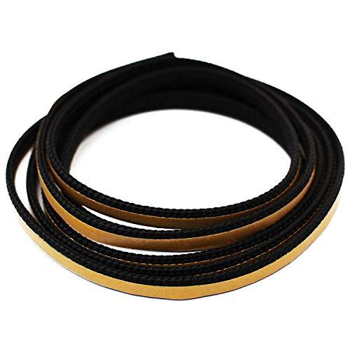 Kamindichtung selbstklebend 2m, ø 8x2mm Flach-Kordel Dichtband. Passend für Austroflamm, Caminos, Koppe, Leda Kamin