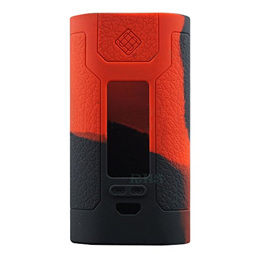 Textured Protective Silicone Cases Wraps for Wismec Predator 228W Mod Kit by SUNME … (Red/Black)
