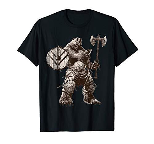 Viking Bear Warrior Odin Berserker TShirt Vikings Myths Tee