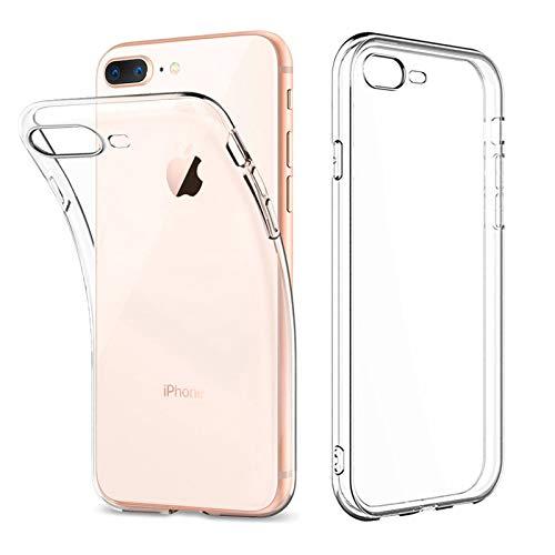 Amonke Coque iPhone 7 Plus/8 Plus Transparente, Ultra Mince Étui De Protection Absorption De Choc, Ultra Clair TPU Silicone Transparent Souple Housse Etui Coque pour iPhone 7 Plus/8 Plus