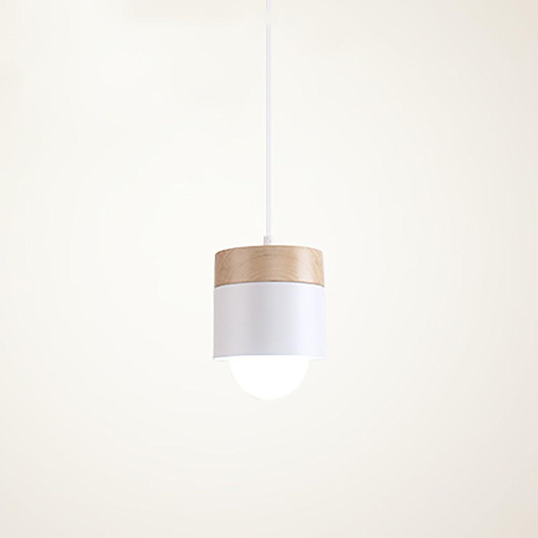 LXSEHN Nordic Moderne Kreative Schmiedeeisen Holz Kronleuchter, Stilvolle Minimalistische Schlafzimmer Wohnzimmer Balkon Gang Lampen Pendelleuchte Lampenlaternen (Farbe   1 lamp-Not include bulbs)