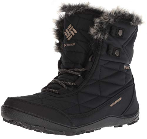 Columbia Women's Minx Shorty III Snow Boot, Black, Pebble, 9.5