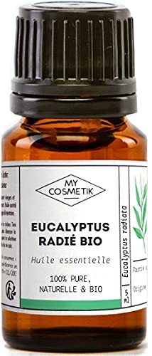Huile Essentielle d'Eucalyptus Radié Bio AB - 100% pure et naturelle HEBBD - MyCosmetik - 30 ml