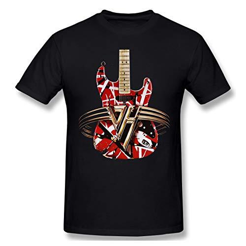 Men's Van Halen Guitar Comfort Soft Logo T Shirt, Black, S to 6XL
