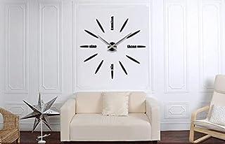 Large Diy Quartz 3d Wall Clock Acrylic Sticker Wall Clock - 012 Black