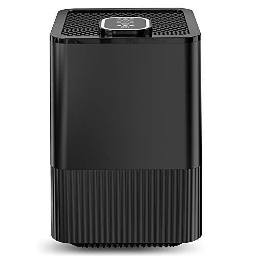 HuanQ Purificador de Aire con Filtro HEPA Real y ionizador,Limpiador de Aire Compacto con filtración de 4 Capas y función de Temporizador, Elimina Polvo,Humo,caspa de Mascotas, alérgico alérgico