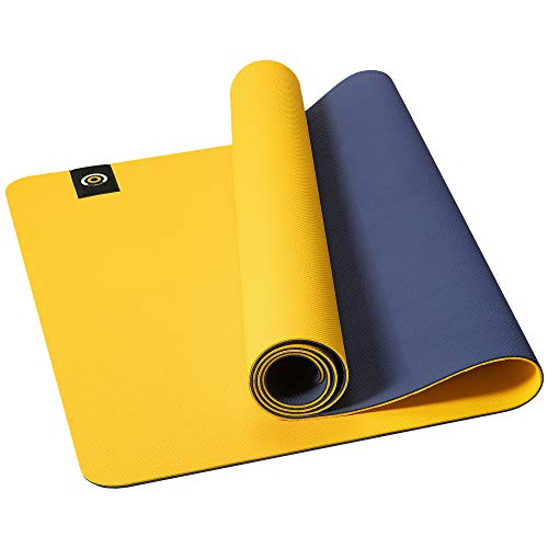 CAMBIVO Extra Wide Yoga Mat for Men and Women 6#039x 25#039 x 6 mm 72quotx 32quot TPE Pro EcoFriendly Workout Mat with Strap Exercise Mat for Pilates Stretching Use Without Shoes