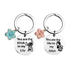 top 10 disney friendship necklace Keychain MAOFAED Friendship Gift You are my Stitch Lilo and Stitch Lilo …