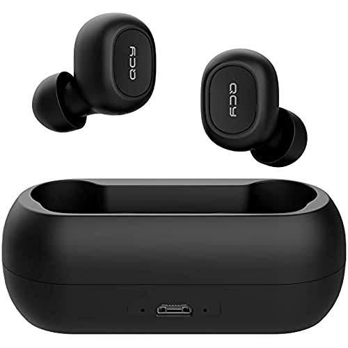 QCY T1 Bluetooth 5.0 Sport-Kopfhörer In-Ear, 20 Stunden Akkulaufzeit, Wireless kabellos für iPhone Samsung Huawei mit starkem Powerbank, IPX4 wasserdicht und Mikrofon