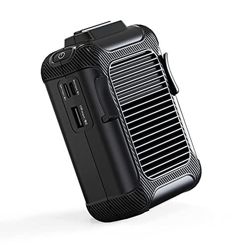 Intoowind Ventilatore portatile da appendere personale, ricaricabile tramite USB, per campeggio, arrampicata, pesca, viaggi, bicicletta, all'aperto, casa