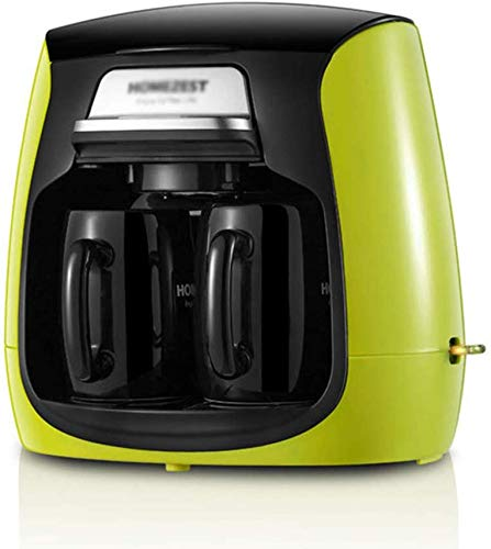 Dsnmm Kaffeevollautomat Drip Type Doppel Cup Kaffeemaschine Mini-Tee-Topf-Maschine (Color : A)