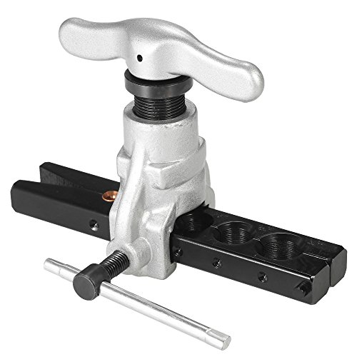 KKmoon Bördelwerkzeug Set für Kältewasser Gas Bremsleitung Anwendungen Schläuche 6 Matrizengrößen 1/4-3/4
