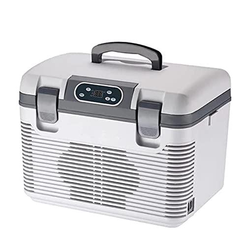 19L Mini Refrigerador Coche, Refrigerador Alimentos PortáTiles, DC12-24V / AC220V Almacenamiento Alimentos FrigoríFico Caja Hielo, Congelador CalefaccióN RefrigeracióN, Coche Casa Picnic-High Capacity