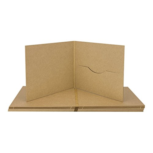 CD Digifile, Hülle m. 1 Schlitz, Kraftpapier 283 g/m², braun - 10er Pack