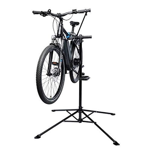 FISCHER Fahrradmontageständer Premium | Reparaturständer | bis 35kg Tragkraft | 4-beiniger Stativfuß | klappbar und höhenverstellbar | stabil mit festem Stand
