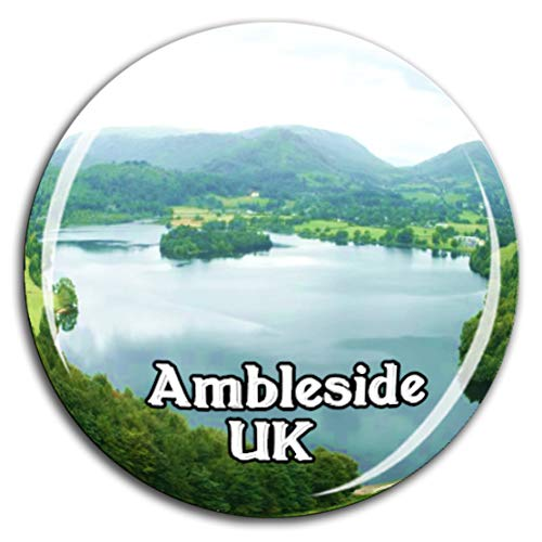 Loughrigg Fell Ambleside England UK Kühlschrankmagnet 3D Kristallglas Tourist City Travel Souvenir Collection Geschenk Strong Refrigerator Sticker