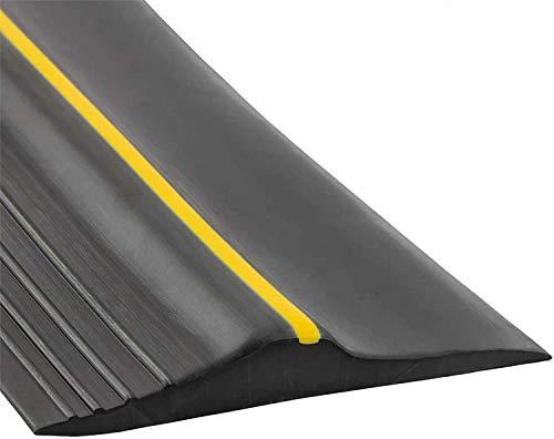 Universal Garage Door Bottom Threshold Seal Strip,Weatherproof Rubber DIY Weather Stripping Replacement, Not Include Sealant/Adhesive (16.5Ft, Black)