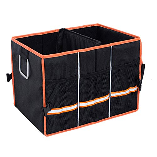 Car Boot Organizer Met Deksel, Auto Trunk Organizer Voor Auto Super Strong & Durable, Antislip, Car Boot Organizer of Opvouwbaar Voor SUV, Voertuig, Vrachtwagen, Auto, Home Boot Organizer,A,49*34*29CM