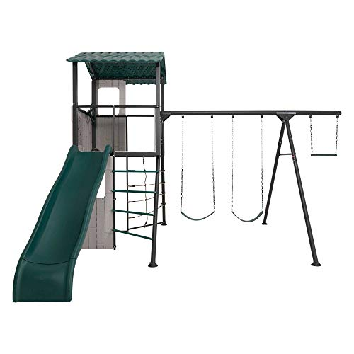 Lifetime 90913 Adventure Clubhouse Swing Set, Brown/Green