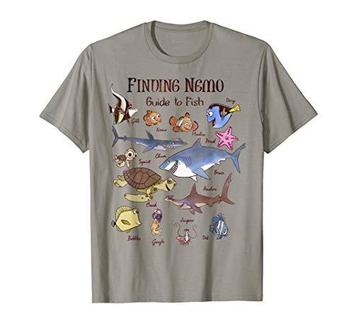 Disney Pixar Finding Nemo Fish Guide Graphic T-Shirt