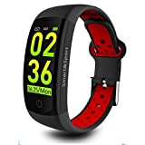 mozeeda Fitness Tracker, IP68 Waterproof Activity Tracker Watch with Heart Rate Monitor,Smart Fitness Band with Step Counter, Calorie Counter, Pedometer Watch for Kids Women and Men