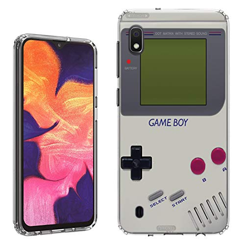 Case [Retro Gameboy](Clear) PaletteShield Flexible Slim TPU Skin Phone Cover (Compatible for Samsung Galaxy A10e)