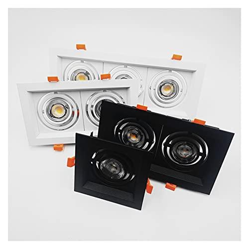 HSHHJSH Focos Empotrables LED Focos Empotrables De Techo LED Regulables Focos Empotrables LED COB Cuadrados 10W 20W 30W Focos De Techo LED AC85-265V (Body Color : Blanc, Emitting Color : 3000K)