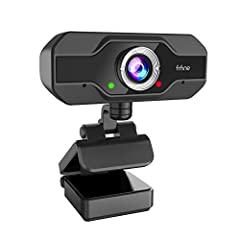 【1080P FULL HD WEBCAM - ENJOY THE CLEARER AND SMOOTHER VIDEO TIME】Fifine webcam with 2-megapixel high-definition image sensor and low light correction, makes your video clearer and brighter. Support 1080P(30fps) video call, High sensitivity, and smoo...