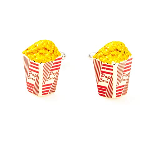 MRCUFF Popcorn 3D Pair Cufflinks in a Presentation Gift Box & Polishing Cloth
