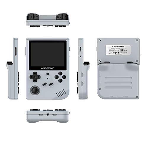 Morton3654Mam Anbernic RG351V Handheld 128GB TF Card Juegos integrados Función WiFi Consola retro 3.5-inch (gris)