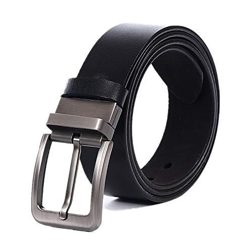 Yiph-Belt Gürtel Freizeit Vintage Ledergürtel für Männer (Farbe : Schwarz, Größe : 120CM)