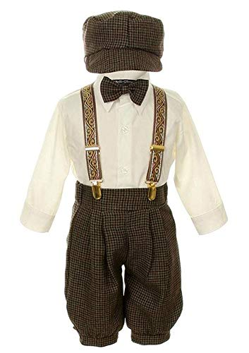 iGirlDress Vintage Dress Suit-Tuxedo Knickers Outfit Set Baby Boys & Toddler 18mos Taupe/Ivory