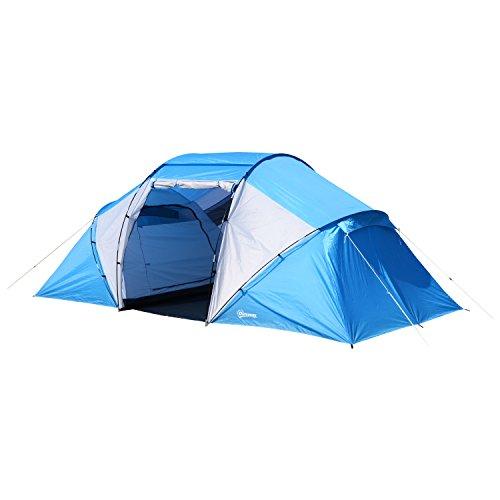 Outsunny Tenda da Campeggio per 6 Persone 460 × 230 × 195cm