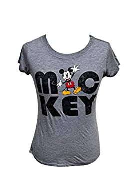 Disney Junior Fashion Top Mickey Mouse Gray Large