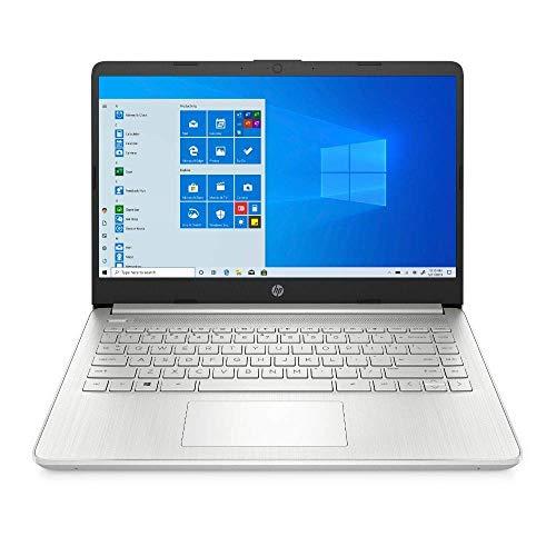 HP 14s-fq0216ng (14 Zoll / HD) Laptop (AMD 3020e dual, 4GB DDR4 RAM, 64GB eMMC, AMD Radeon Grafik, Windows 10, QWERTZ-Layout inkl. Microsoft Office 365 Single) silber