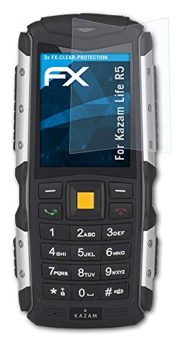 atFolix Schutzfolie kompatibel mit Kazam Life R5 Folie, ultraklare FX Bildschirmschutzfolie (3X)
