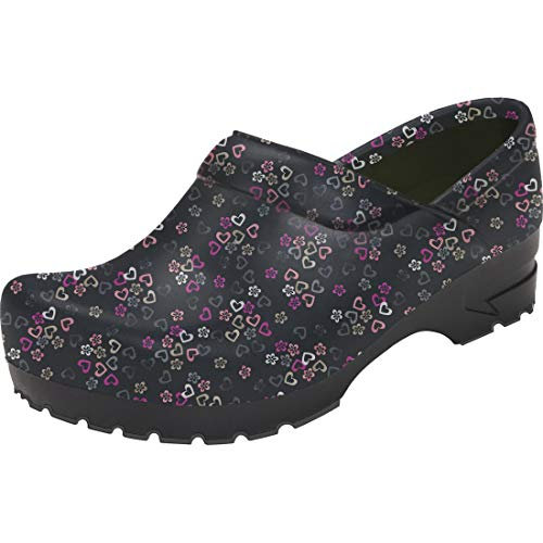 Anywear SRANGEL Women's Healthcare Professional Closed Back Clog, 9, Lucky in Love