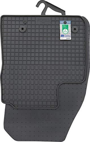 PETEX Gummimatten passend für Transit Courier ab 06/2014 / Tourneo Courier ab 2018 Fußmatten schwarz 2-teilig