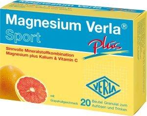 Magnesium Verla Sport Plus Aktiv-Set 3x20Beutel. Sinnvolle Mineralstoffkombination Magnesium plus Kalium & Vitamin C
