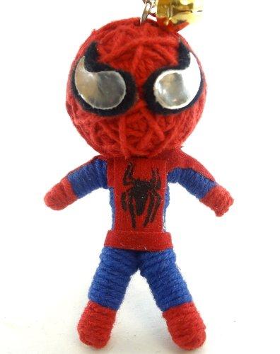 Spiderman Voodoo String Doll Key Chain Handmade Spider Web Superhero by Voodoo Magic