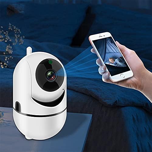 Cámara IP inteligente HD 1080P 360 grados inalámbrico al aire libre Auto Tracking Cámara de vigilancia infrarroja Pet Baby WiFi Cámara (blanco)