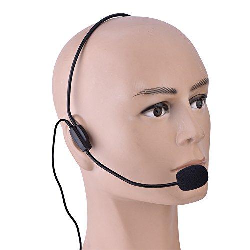 Mikrofon für Smartphone, Kopfhörer mit Mikrofon, tragbares Mini-Mikrofon, 3,5 mm, Mikrofon für Lautsprecher, Voice-Verstärker, für Bühnenaufführung, Show, Gesang mit Tanz, Unterricht