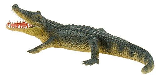Bully- Bullyland 63690-Figura de Juego, caimán, Longitud Aprox. 19 cm Figura Pintada a Mano, sin PVC, para Que los niños jueguen con la imaginación, Color Colorido (63690)