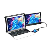 OFiyaa P1 (11.6 Inch) Portable Monitor for Laptop Screen Extender Dual Display FHD IPS USB-A/Type-C/HDMI 2 Speakers Monitor Extender for PS5 Compatible with 13''-16'' Mac PC/Notebook