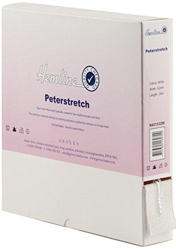Hemline Élastique petastretch pour ceintures 32 mm de large Blanc – Au Mètre