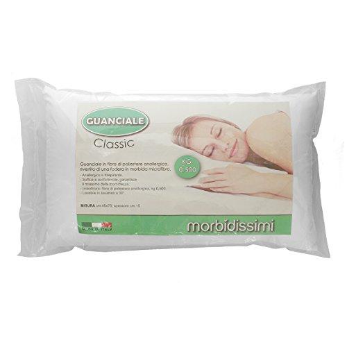 Morbidissimi Guanciale MOD. Classic Anallergico Traspirante 45x75 cm 500 gr N597