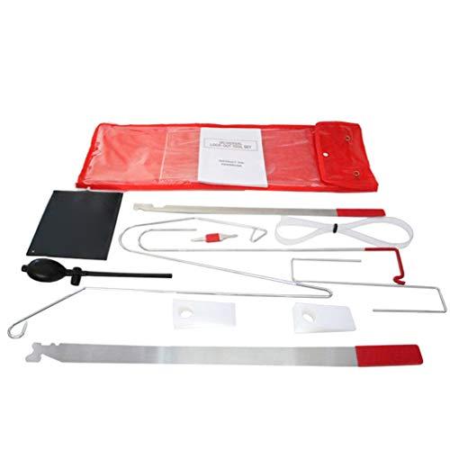 GARNECK Car Repair Kit Multifunctional Auxiliary Car Door Tools Air Bag Motor Maintenance Door Expander Car Kit Set Tools(9 Door Tools and 1 Air Bag)
