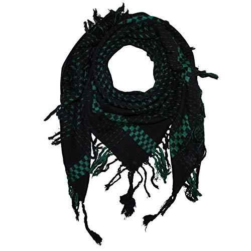 Superfreak Tuch im Pali Stil mit Kreuzmuster - PLO Schal - 95x95 cm - Pali Palästinenser Arafat Tuch - 100{385b527c3488861a12fbadf759d2c8669f069ba5e964b7756c66d06fdb89b49e} Baumwolle Farbe: schwarz-grün