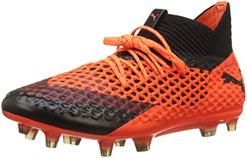 Puma Herren Future 2.1 Netfit FG/AG Fußballschuhe, Schwarz Black-Shocking Orange 02, 43 EU