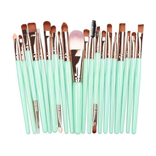 MakeUp Pinselset (20 Stück) - Make Up Pinsel Set - Kosmetikpinsel - Größe 15cm - Synthetisches...